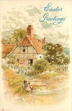 Cottage ~ woman & child