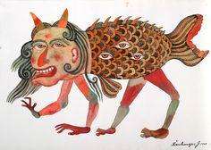 Entries feed for la_ra_fa Alice In Wonderland Illustrations, Hybrid Art, Dinosaur Art, Unusual Art, Weird Art, Art And Illustration, Surreal Art, Sculpture, Asian Art