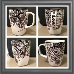 diy sharpie mug gifts | Sharpie mug