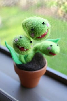 Needle Felted Carnivorous Plant | Flickr - Photo Sharing!