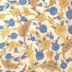 Detail, [Detail, calligraphy with stylized watercolor carnations and other flowers. Official signature of Sultan Suleiman the Magnificent, 16th century Istanbul. The Met's collection.]