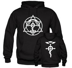 FMA Full Metal Alchemist Edward Alphonse Cross Costume Hoodie Jacket Sweater   eBay