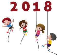 Happy New Year 2018 Kids Funny without background Happy New Year 2018 kids with balloons  #2018 #newyear #clipart #happynewyear #funny #kids