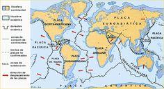 Mapa de las placas tectónicas