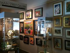 Art for sale at the Main Street Gallery.