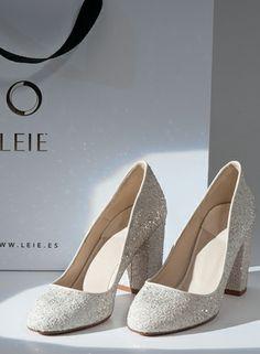 LEI É - #Zapatos de #boda y fiesta #Glitter #Blancos