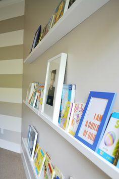 The Family Room: Ikea Ribba Picture Ledge turned Book Shelf