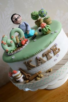 60th Cake for a gardening and baking lover - Cake by Zoe's Fancy Cakes