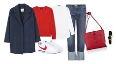"""""""Untitled #4068"""" by memoiree ❤ liked on Polyvore featuring M.i.h Jeans, Steffen Schraut, Isabel Marant, MANGO, NIKE, Kara and Marc by Marc Jacobs"""
