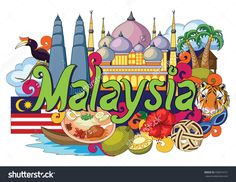 Illustration about Vector illustration of Doodle showing Architecture and Culture of Malaysia. Illustration of castle, city, malaysia - 72405653 Independence Day Poster, Independence Day Images, Doodle Drawings, Doodle Art, Black And White Doodle, Singapore Art, Ganesha Pictures, Islamic Cartoon, Tourism Poster