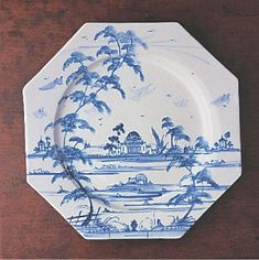 Isis Ceramics produces a variety of beautiful hand-painted tablewares.  This is their Palladian design plate.