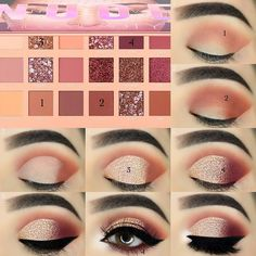 Great tutorial for beginners on eye make-up, fancy eye make-up ideas . - Great tutorial for beginners about eye make-up, unusual eye make-up ideas, eye make-up instructions … – Eye Makeup – # Beginner Makeup Instructions Sexy Eye Makeup, Makeup Eye Looks, Eye Makeup Steps, Eye Makeup Art, Makeup For Brown Eyes, Skin Makeup, Eyeshadow Makeup, Eyebrow Makeup, Make Up Tutorial