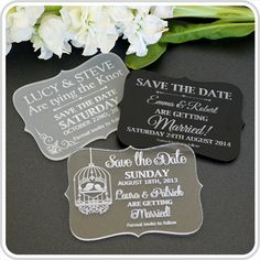 Engraved Acrylic Wedding 'Save the Date'| Personalised Favours