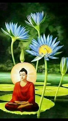 Budha Painting, Tanjore Painting, Amitabha Buddha, Buddhist Wisdom, Buddha Art, Buddha Statues, African Art Paintings, Indian Folk Art, Krishna Art