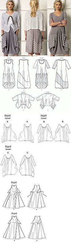 Sewing clothes recycling tutorials Ideas for 2019 Sewing Jeans, Sewing Clothes, Diy Clothes, Clothing Patterns, Dress Patterns, Sewing Patterns, Vestidos Jumper, Make Your Own Clothes, Modelista