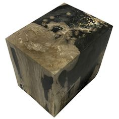 """POLISHED RECTANGULAR PETRIFIED WOOD STOOL Dimensions 20"""" (W) x 15"""" (D) x 19"""" (H) Polished Rectangular Petrified Wood Stool Petrified Wood Side Table offered by Organic Findings. Our Petrified Wood Tables are part of a large collection of unique objects. We combine contemporary design ideas with global product sourcing. Organic Findings sources the highest quality petrified wood, please visit our online store."""