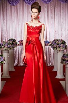 どんな舞台でも輝きを放つ!  スペシャルレッドのロングドレス♪ - ロングドレス・パーティードレスはGN|演奏会や結婚式に大活躍!