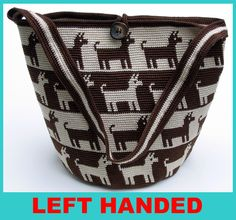Left Handed Gone to the Dogs Tapestry Crocheted Purse by tapestrycrochet, via Flickr