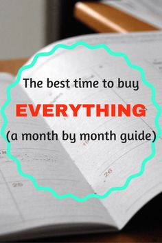 Here is a month by month guide to show you when are the best times of the year to buy a variety of items to give your family the most savings! For more money saving tips, check out: www.onlygirl4boyz.com