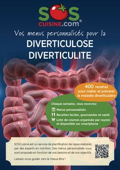 Menus personnalisés pour diverticulite et diverticulose Tailored Meal Plans for Diverticulitis and Diverticulosis