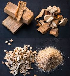 Holzstücke, Chips, Holzspäne oder Holzmehl zum räuchern
