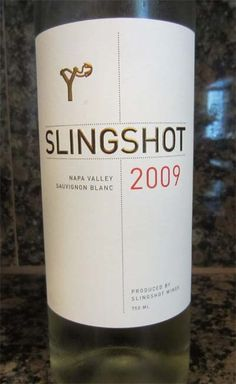 2009 Slingshot Sauvignon Blanc - a crisp vibrantly fruity wine with a rich creaminess. Pairs well with fish, poultry and salads. $15