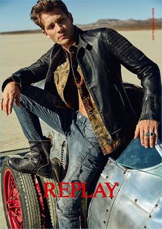 Andrey Zakharov embraces a timeless cool for Replay's spring-summer 2018 campaign.