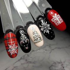 Nail Art Noel, Xmas Nail Art, Cute Christmas Nails, Xmas Nails, Snow Nails, Holiday Nails, Winter Nails, Fancy Nails, Love Nails