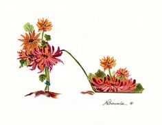 http://www.brownleeartstudio.com/apps/webstore/products/show/6884716 CHRYSANTHEMUM SHOE PRINT SIGNED - FREE SHIPPING