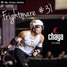 EEEEEEEEEP!!!  #Repost @chaya_skates with @repostapp.  Did you see our announcement on Facebook yesterday? We are over the moon to announce our newest team member... FRIGHTMARE #31 @frightyface of the @bayareaderby All-Stars.  Full details at our FB page or http://ift.tt/1Lg5fRF  #rollerderby #derby #chaya #chayaskates #chayaderby #powerslide #quadskating #quads #carbonskates #carbonboots #rollerskating #wftda #talk2wftda #frightmare #bayareaderby #bayareaderbyallstars #jammer #superstar by…