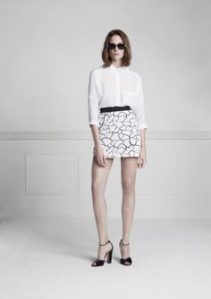 Lookbook Spring-Summer 2014, Perdy shirt, Pirna skirt, www.annefontaine.com #annefontaine #whiteshirt #fashion