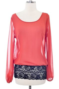 Ella Top. Ditch the sleeves, lace banded bottom. Love.