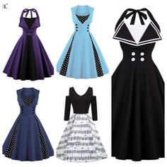 Stand out in the crowd in these Vintage dresses. Lots of different types and colours to choose from! Vintage Dresses, Vintage Outfits, Different, Crowd, What To Wear, Curvy, Polka Dots, Plus Size, Colours