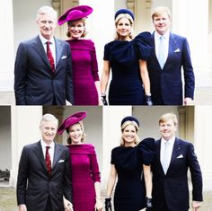 anythingandeverythingroyals:  King Philippe and Queen Mathilde of Belgium with Queen Maxima and King Willem-Alexander of the Netherlands