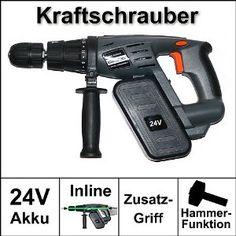 24V Akku Schrauber, Bohrmaschine, Schlagbohrmaschine, electron., kabellos, stark