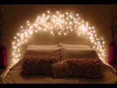 Room decor fairy lights bedroom lighting ideas for better sleep beautiful fairy lights for bedroom headboard . Bedroom Decor Lights, String Lights In The Bedroom, Room Lights, Bedroom Lighting, Diy Room Decor, Home Decor, Icicle Lights Bedroom, Light Bedroom, Wall Lights
