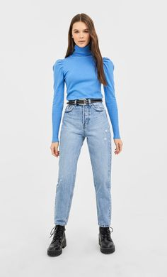 Vintage mom jeans in Stradivarius for only 3290 RSD available for a limited time. Mom fit for women always on trend, come in and find out now! Vintage Mom Jeans, Jeans Fit, Skinny Jeans, Moda Fitness, Look Fashion, Ideias Fashion, Shopping, Clothes, Vintage Mom