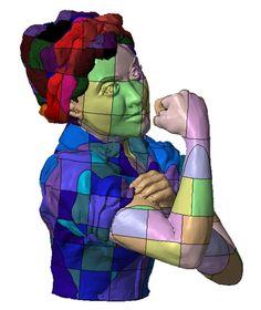 3ders.org - Got a 3D printer? Help make a giant Rosie the Riveter statue! | 3D Printer News & 3D Printing News