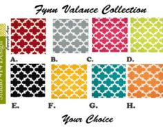 Trendy, Modern & Colorful. Dress up your window with these colorful modern valance, perfect for any room like your bedroom living room or kitchen . The valance is affordable and is made from a 100% cotton fabric.  Valance Detail ^^^^^^^^^^^^^^^^^^^ • Width: You choose. • Length:13(10+3 rod pocket) •Fabric Content: 100% Cotton •Pattern.Geometric  Custom Orders: I can customize this particular design to fit any specific window lengths that you require upon order. To place a custom order ple...