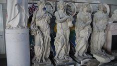 """Scultura in pietra le 4 stagioni - http://achillegrassi.dev.telemar.net/project/scultura-4-stagioni-in-pietra-bianca-di-vicenza/ - Scultura le """"4 stagioni"""" in Pietra bianca di Vicenza. la primavera, l'estate, l'autunno, I' inverno. Dimensioni:  60cm x 50cm x 190cm (H)"""