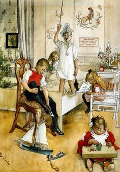 Christmas Day by Carl Larsson