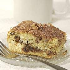 This tender cake is both filled and topped with a delicious cinnamon-y streusel.