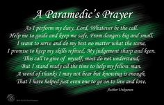 A Paramedic's Prayer Poster (11 x 17 or 24 x 36)