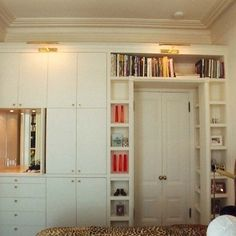 MASTER BEDROOM - built-in closets that go over doorway