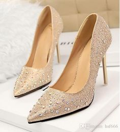 2016 Lady Gorgeous Nightclub Evening Shoes High Heels Rhinestones Ponited Toe Sandals Woman Wedding Bridal Dress Shoes Italian Shoes Summer Shoes From Hsf666, $50.86  Dhgate.Com