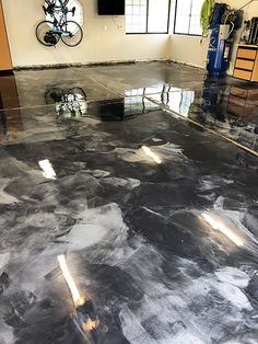 Metallic epoxies can have similar patterns compared to marble. These patterns are organic looking and have a flow to them. Learn more on how to properly apply epoxies and other floor coatings at the link below. Concrete Sealant, Garage Floor Coatings, Start Of Winter, Flow, Improve Yourself, Restoration, Marble, Metallic, Organic