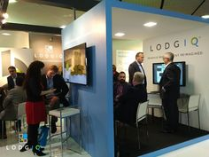 Our SVP of Business Development, Michael O'Connell and VP of Product & Analytics, Beatrice Robbins deep in discussion about the benefits of all data sources fueling LodgIQ's machine-learning platform. #ITBBerlin #Technology #BigData #RevenueManagement #VacationRentals