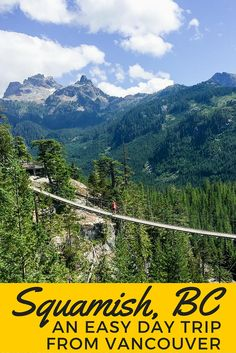 Heading to Vancouver, Canada and love the outdoors? Be sure to add in a Squamish day trip. It's a perfect travel adventure for outdoor loveres!!