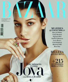 Bella Hadid stuns on the cover of Harper's Bazaar Spain April 2016. #bellahadid