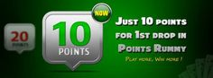 Now just 10 points for 1st drop in #POINTSRUMMY or #STRIKESRUMMY  https://www.classicrummy.com/points-rummy?link_name=CR-12